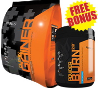 Rivalus-Clean-Gainer-12lb-free-bonus-powder-burn-40servings