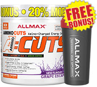 allmax-amino-cuts-252g-36-servings-shaker-cup-combo