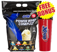 bio-x-power-whey-complex-free-shaker-cup-new