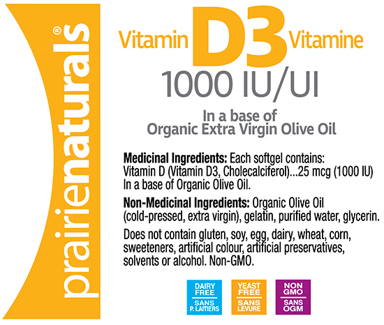 Prairie Natruals Vitamin D3