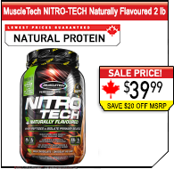 MuscleTech NITRO-TECH Naturally Flavoured