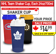 NHL Team Shaker Cups, 32