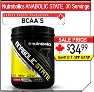 Nutrabolics Anabolic State, 30 Servings