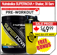 Nutrabolics SUPERNOVA, 20 Servings + Shaker