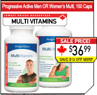 Progressive Active Men OR Women's 150 Caps