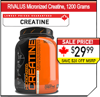 RIVALUS Creatine 1200g Value Size!