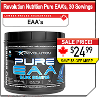 Revolution Nutrition EAA's, 30 Servings!