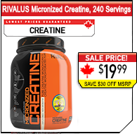 RIVALUS Creatine Micronized, 31