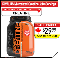RIVALUS Micronized Creatine 240 Servings
