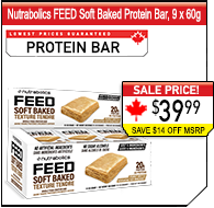 Nutrabolics FEED Bar Soft Baked