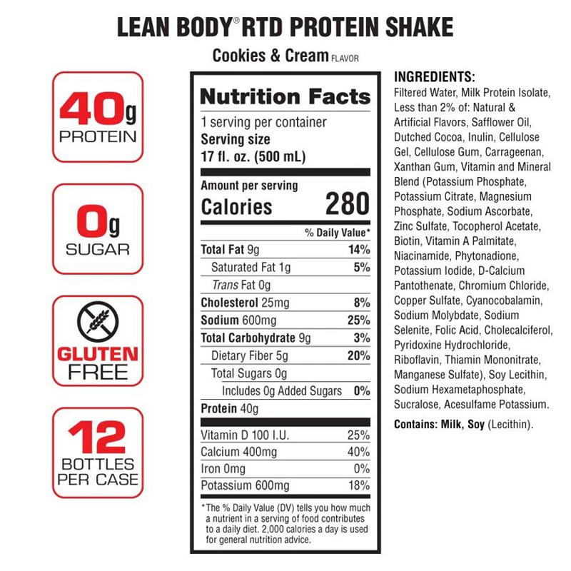 Labrada Lean Body Protein Shake Ready To Drink