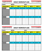 Downloadable Training Log Pages