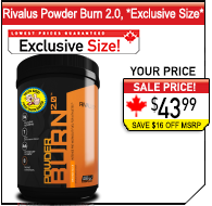 Rivalus Powder Burn 2.0 Exclusive Size!
